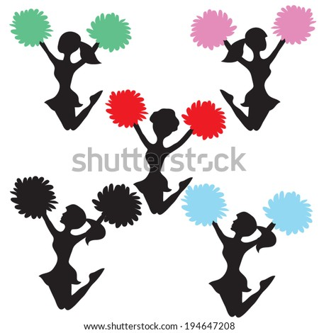 cheerleader vector illustration stock vector 194647208 shutterstock rh shutterstock com cheerleader vector graphics cheerleader vector art