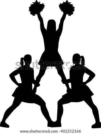 Cheer Jumps Silhouette