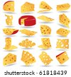 cheese icon collection - stock vector