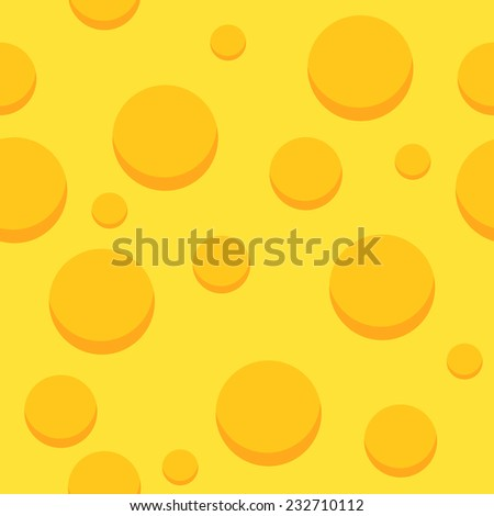 Cheese Seamless Pattern. Vector Background with Food. - stock vector
