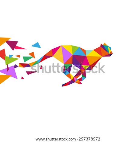 Cheetah abstract isolated on a white backgrounds, vector illustration  - stock vector