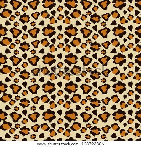 Cheetah skin seamless pattern - stock vector