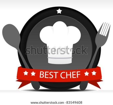 Chef Badge - stock vector