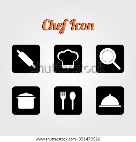 Chef cap icon. Cooking cap. cooking logo, Vector Logo Template. - stock vector