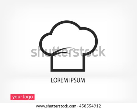 Chef cap  vector icon - stock vector