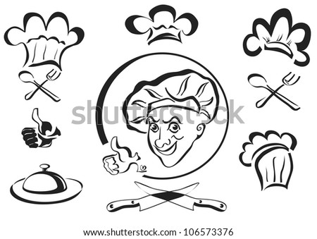 chef , cook , logotype - stock vector