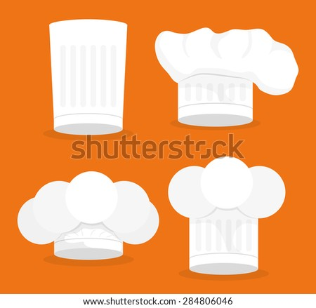 Chef design over orange background, vector illustration.