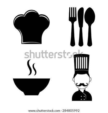 Chef design over white background, vector illustration. - stock vector