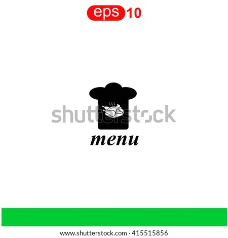 Chef hat icon. Chef hat icon vector. Chef hat icon illustration. Chef hat icon web. Chef hat icon Eps10. Chef hat icon image. Chef hat icon logo. Chef hat icon sign. Chef hat icon art. - stock vector