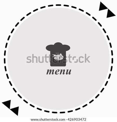 Chef hat icon Flat Design. Isolated Illustration. - stock vector