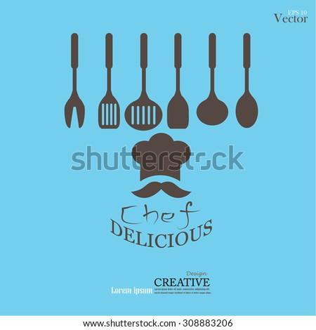 Chef icon.Chef symbol.vector illustration. - stock vector