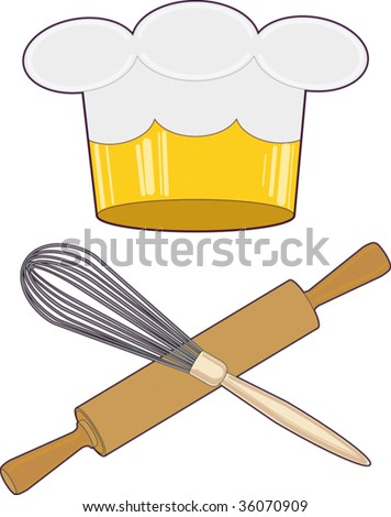 Chef King of cuisine - stock vector