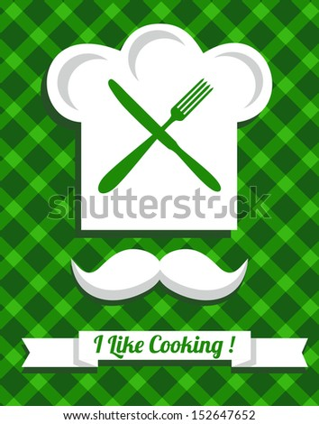 Chef,kitchen,cooking.  - stock vector