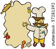 chef menu - stock vector