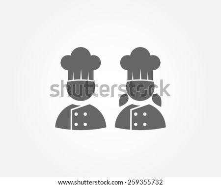 chef restaurant menu gourmet gastronomy cuisine kitchen pictogram vector icon - stock vector