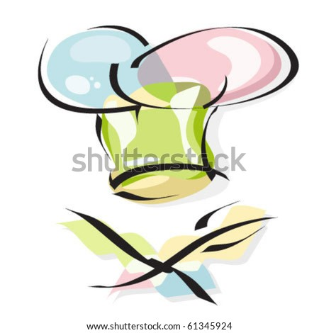 Chef's hat vector icon - stock vector