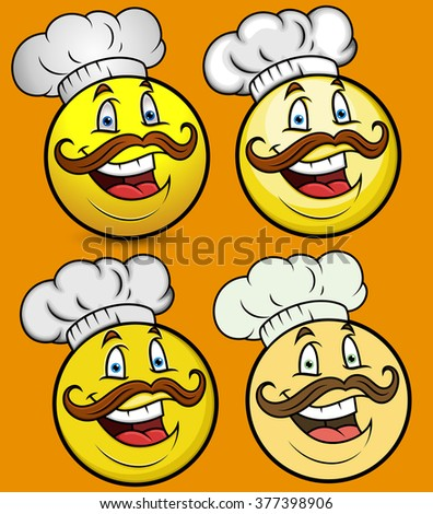 Chef Smiley Emoji Set
