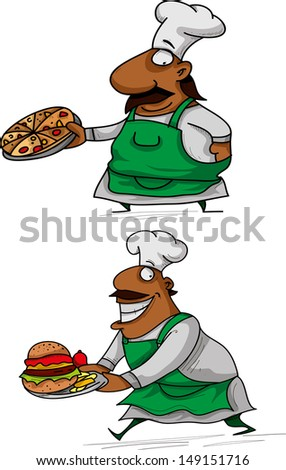Chef with a Pizza, Chef with a Burger