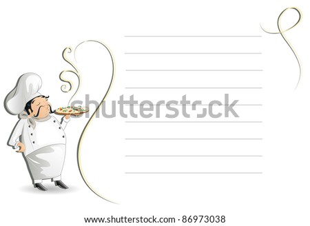 Chef with menu (also available jpg version) - stock vector