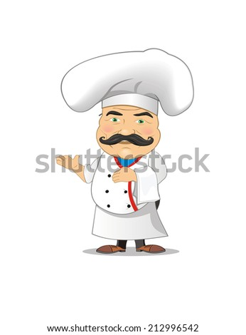 chef with tray vector