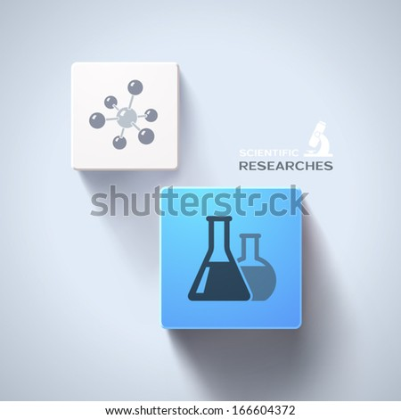 Chemical concept. Eps10 vector - stock vector