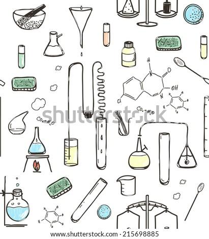 Chemical laboratory seamless pattern hand drawn stock vector chemical laboratory seamless pattern hand drawn stock vector 215698885 shutterstock ccuart Gallery