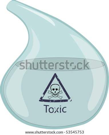 Chemical laboratory ware - stock vector