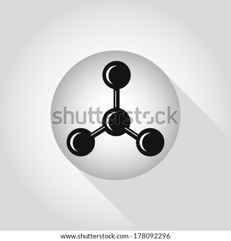 Chemical networks concept icons. Vector illustration. - stock vector