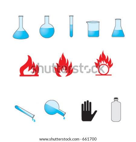 Chemical symbols - stock vector