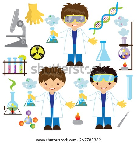 crazy mad scientist royalty free stock vector art