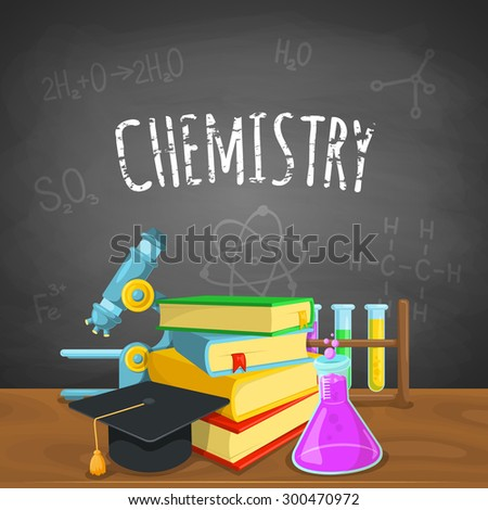 Chemistry backdrop. Education background design. Science colorful vector composition.  - stock vector