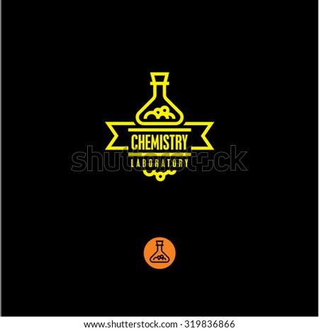 chemistry, chemical industry, chemical icon, flask - stock vector