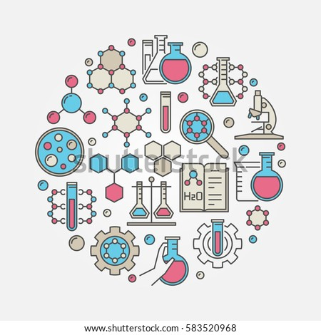 Chemistry colorful illustration vector circular science stock vector chemistry colorful illustration vector circular science stock vector 583520968 shutterstock ccuart Images