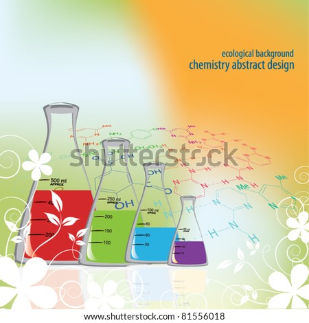 chemistry ecological abstract design - stock vector
