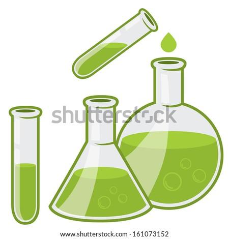 chemistry flacks - stock vector