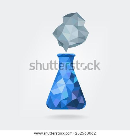 Chemistry Glassware/low polygon - stock vector