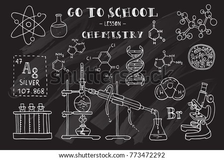 Chemistry hand sketches on theme chemistry stock vector hd royalty hand sketches on the theme of chemistry chalkboard vector illustration ccuart Gallery