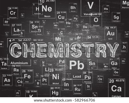 Periodic table elements background illustration stock vector chemistry word on periodic table symbols blackboard background urtaz Images
