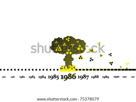 Chernobyl nuclear explosion - stock vector