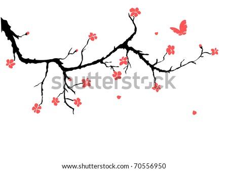 cherry blossom - stock vector