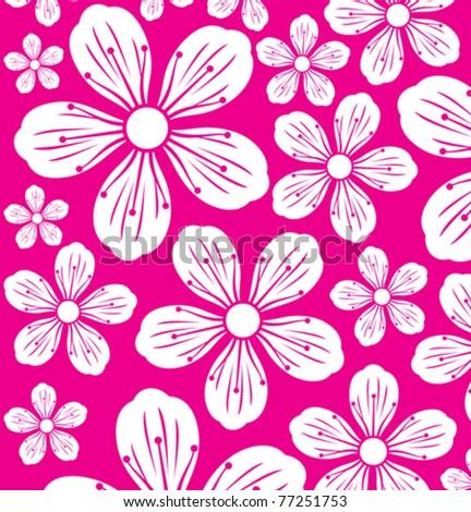 cherry blossom pattern - stock vector