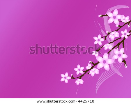 Cherry Blossom Vector Background