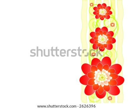 Cherry blossom, vector border - stock vector