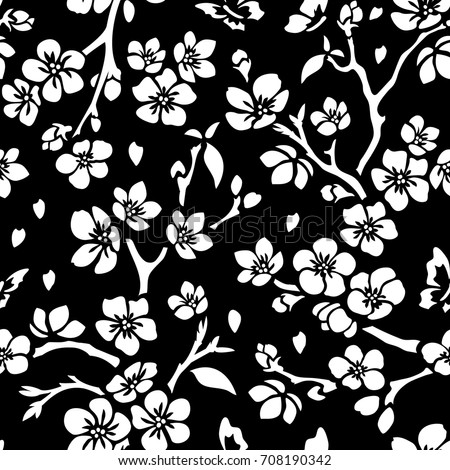 Black And White Flower Pattern Stock Images, Royalty-Free ...
