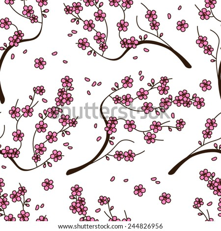 Cherry blossoms - stock vector