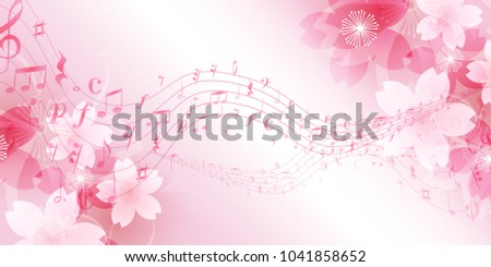 Cherry Blossoms spring note background