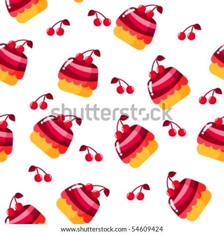 Cherry pie - stock vector