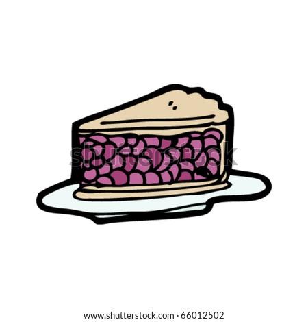 cherry pie cartoon - stock vector