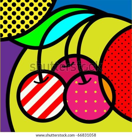 sweet pear fruits garden popart modern stock vector 270393002 shutterstock. Black Bedroom Furniture Sets. Home Design Ideas
