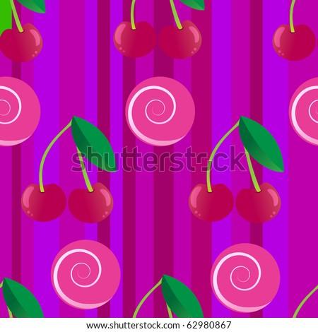 Cherry seamless - stock vector